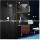 Contemporary Shower Faucet with 8 inch Shower Head + Hand Shower Satin Nickle Finish----000325