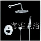 Contemporary Shower Faucet with 8 inch Shower Head + Hand Shower---000341