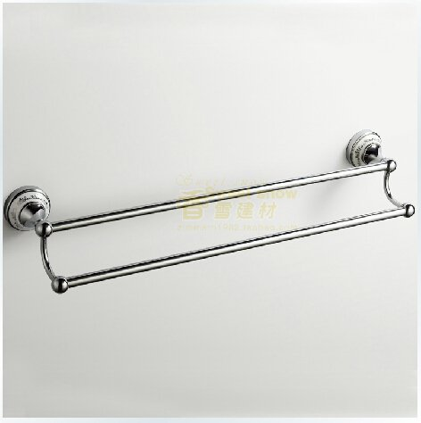 Ceramic Wall Mount Golden Chrome finish Double Towel Bar---A0248