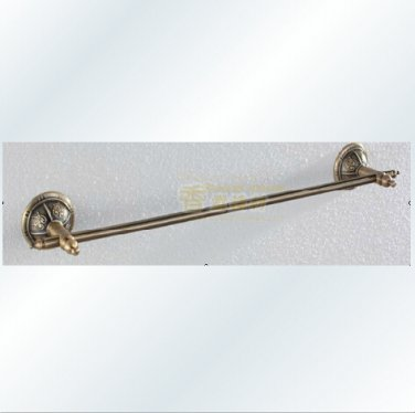 Antique Style Antique Bronze Finish Wall Mounted Brass Single Towel Bar 1301