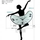 Dancing-girl Type Iron Wall Clock