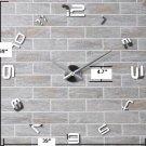 DIY 3D Mirror Acrylic Sticker Wall Clock - MAX3 (12S008S)