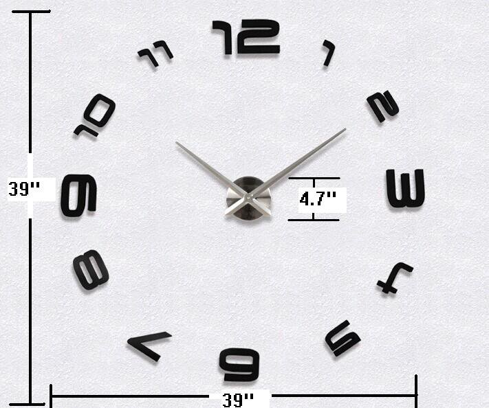 DIY 3D Mirror Acrylic Sticker Wall Clock - MAX3 �12S008B�