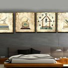 "16""Modern Bird Wall Clock in Canvas 4pcs - MPF(SYNJ378)"