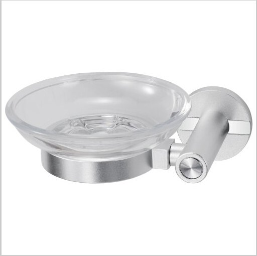 Bathroom Accessories Aluminium Soap Dish Holder Chrome Finish 0416