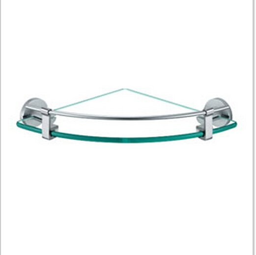 Chrome Finish Aluminium Bathroom Glass Brackets  0431
