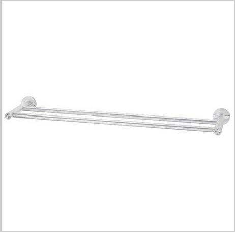 Modern Aluminium  Double Wall Mount Towel Bar  0586