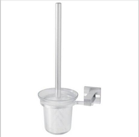 Contemporary Aluminium Toilet Brush Holder With Toilet Brush Cup Chrome Finish 1424