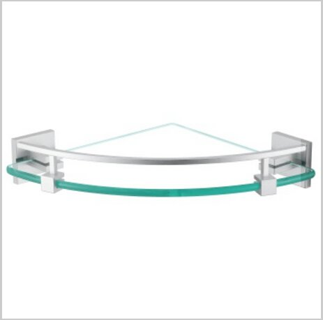 Chrome Finish Aluminium Bathroom Glass Brackets  1431