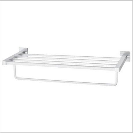 Bathroom  Aluminium  Shelf With Chrome Finish  Towel Bar  1551