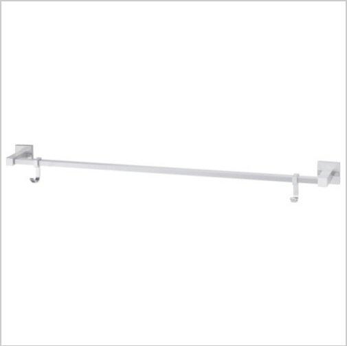 Contemporary Aluminium Chrome Finish  Single Towel Bar With Hooks  1795A