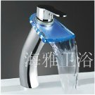 Single Handle Color Changing LED Waterfall Bat---H31084