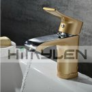 Solid Brass Single Handle Contemporary Ti-PVD Finish Bathroom Sink Faucet---111014