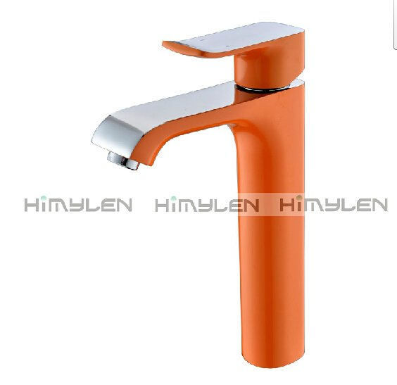 Retro Orange Painting Finish One Hole Single Handle Centerset Bathroom Sink Faucets---111033