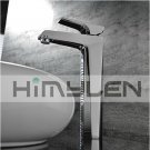 Solid Brass Single Handle Contemporary Chrome Finish Bathroom Sink Faucet---111020