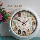 "15""H Retro Country Style Metal Wall Clock - YGMW(BOLI001TYW)"