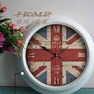 """15""""H Retro Mediterranean Style Metal Wall Clock - YGMW(BOLI058MZW)"""