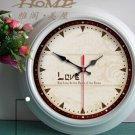 "15""H Retro Style Metal Wall Clock - YGMW(BOLI042GXW)"