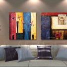Modern Style Scenic Canvas Wall Clock 2pcs - MPF(K043023)