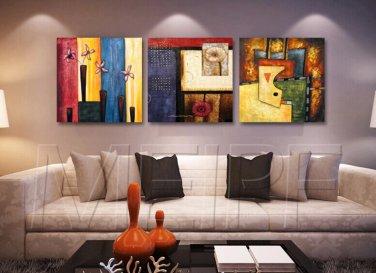 Modern Style Scenic Canvas Wall Clock 3pcs - MPF(K043031)