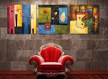 Modern Style Scenic Canvas Wall Clock 3pcs - MPF(K043032)