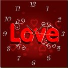 Modern Style Love Theme Wall Clock in Canvas - MPF(HZ0025)
