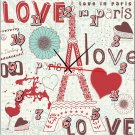 Modern Style Love Theme Wall Clock in Canvas - MPF(HZ0029)