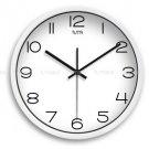 "12"" Modern Style Wall Clock in Stainless Steel - TUMA(J307W)"