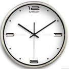 "12"" Modern Style Wall Clock in Stainless Steel - TUMA(BT201S)"