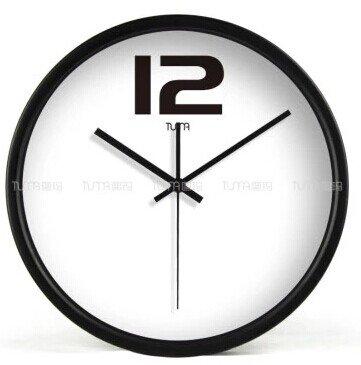 "12"" Modern Style Wall Clock in Stainless Steel - TUMA(BZ109B)"