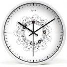 "12"" Modern Style Wall Clock in Stainless Steel- TUMA(BZ117W)"