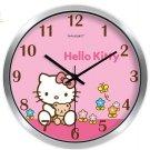 "10"" Cartoon Style Wall Clock in Stainless Steel-FEITAO(KT367S)"