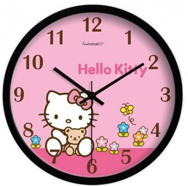 "10"" Cartoon Style Wall Clock in Stainless Steel-FEITAO(KT367B)"
