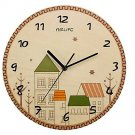 Originality Wall Clock Colourful Houses Mute LC1092