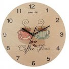Originality Wall Clock Colourful Coffee Cups Mute LC1094