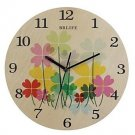 Originality Wall Clock Colorful Flower Mute LC1096