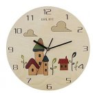 Originality Wall Clock Cartoon Wooden Room Mute LC1093