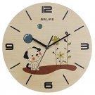 Originality Wall Clock Cute Dog Mute LC1090