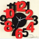 Modern Design Numbers Wall Clock - M1075B