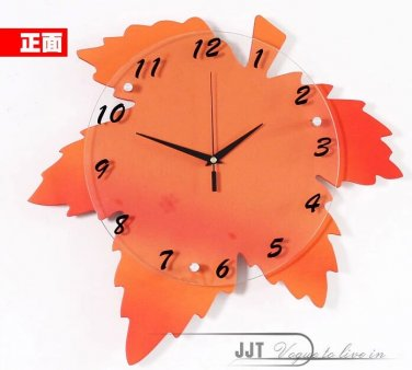 Fashionable Artistic Maple Mute Wall Clock - M8084