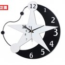 Modern Style Angle Moon Star Mirror Wall Clock - T6036