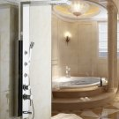 Stainless steel rainfall Shower Panel three massge jets rose gold colour chrome finish 8889