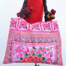 Hmong Embroidered Fabric Floral Pink Bag