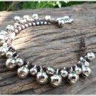 Silver Beads Bell Bracelet