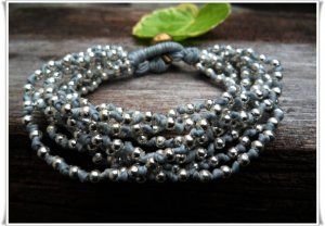 Silver Beads  Knot  Bracelet