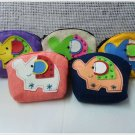 Set of 5 Multi Color Elephant Purse