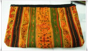 Colorfull Purse Hmong Embriodered Fabri