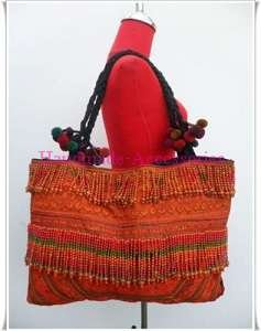 Hilltribe Embroidered  Full Bead Hippie Shoulder Bag