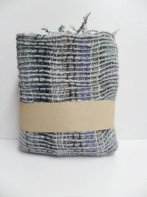 Gray Colorful  Cotton 100% Scarf