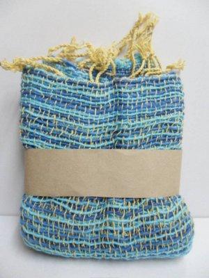Colorful Blue  Cotton 100% Scarf